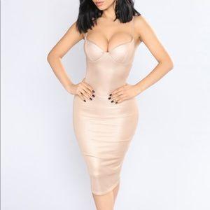 Gold Midi Dress